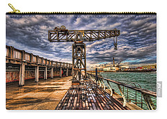 Carry-all Pouch featuring the photograph Tel Aviv Port At Winter Time by Ron Shoshani