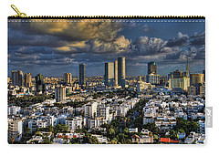 Carry-all Pouch featuring the photograph Tel Aviv Skyline Fascination by Ron Shoshani