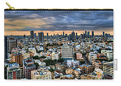 Carry-all Pouch featuring the photograph Tel Aviv Skyline Winter Time by Ron Shoshani