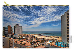 Carry-all Pouch featuring the photograph Tel Aviv Summer Time by Ron Shoshani