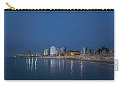 Carry-all Pouch featuring the photograph Tel Aviv The Blue Hour by Ron Shoshani