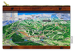Telluride Ski Map Detail  Carry-all Pouch by David Lee Thompson