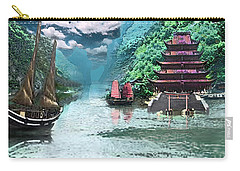 Temple On The Yangzte Carry-all Pouch