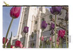 Temple Tulips Carry-all Pouch by Chad Dutson