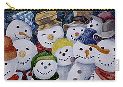 Ten Little Snowmen Carry-all Pouch