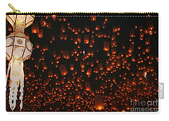 Carry-all Pouch featuring the photograph Ten Thousand Lantern Launch by Nola Lee Kelsey
