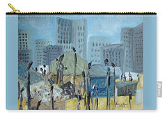Tent City Homeless Carry-all Pouch by Judith Rhue
