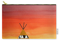 Tepee Or Not Tepee Original Painting Carry-all Pouch