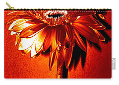 Tequila Sunrise Zinnia Carry-all Pouch by Sherry Allen