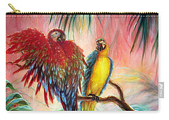 Tequila Y Rosita Carry-all Pouch by Heather Calderon