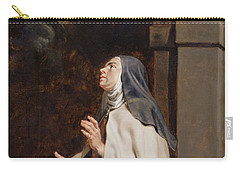 Teresa Of Avilas Vision Of A Dove Carry-all Pouch by Peter Paul Rubens