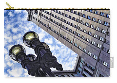 Carry-all Pouch featuring the photograph Terminal Tower - Cleveland Ohio - 1 by Mark Madere