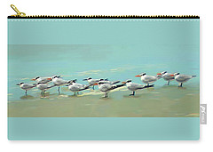 Carry-all Pouch featuring the digital art Tern Tern Tern by Deborah Boyd