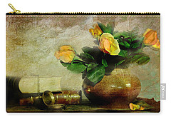 Terra Cotta Rose Carry-all Pouch