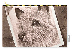 Terrier As Optical Illusion Carry-all Pouch