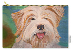Terrier Portrait Carry-all Pouch by Tracey Harrington-Simpson