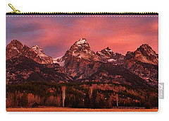 Carry-all Pouch featuring the photograph Teton Color by Benjamin Yeager