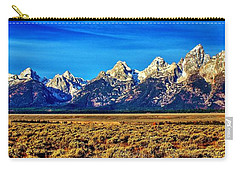 Carry-all Pouch featuring the photograph Teton Panorama by Benjamin Yeager