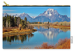 Carry-all Pouch featuring the photograph Teton Tranquility by Benjamin Yeager