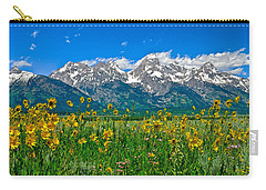 Teton Peaks And Flowers Carry-all Pouch