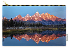 Carry-all Pouch featuring the photograph Teton Sunrise by Benjamin Yeager