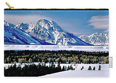 Teton Valley Winter Grand Teton National Park Carry-all Pouch by Ed  Riche