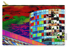 Carry-all Pouch featuring the photograph Tetris Clouds by Christiane Hellner-OBrien