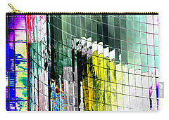 Carry-all Pouch featuring the photograph Tetris Sunset by Christiane Hellner-OBrien