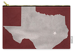 Texas A And M University Aggies College Station College Town State Map Poster Series No 106 Carry-all Pouch