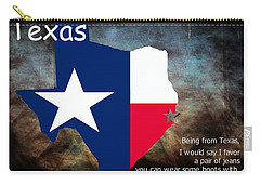 Jensen Ackles Texas Quote Carry-all Pouch