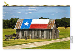 Texas Barn Flag Carry-all Pouch