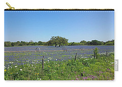 Texas Blue Bonnets Carry-all Pouch by Shawn Marlow