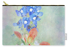 Texas Bluebonnet And Indian Paintbrush Carry-all Pouch by David and Carol Kelly
