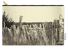 Texas Fence In Sepia Carry-all Pouch