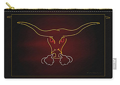 Texas Longhorn Photoart 1 Carry-all Pouch by Walter Herrit