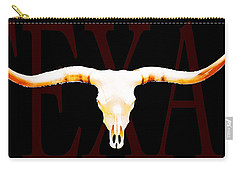 Texas Longhorns By Sharon Cummings Carry-all Pouch by Sharon Cummings