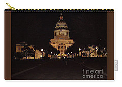 Carry-all Pouch featuring the photograph Texas State Capital by John Telfer