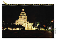 Carry-all Pouch featuring the photograph Texas State Capitol by Dave Files