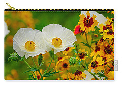 Texas Wildflowers Carry-all Pouch by Lynn Bauer
