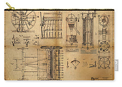 Textile Machine Carry-all Pouch by James Christopher Hill
