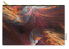 Carry-all Pouch featuring the digital art Texture Splash by Margie Chapman