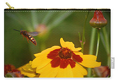 Carry-all Pouch featuring the photograph Textured Bee by Leticia Latocki