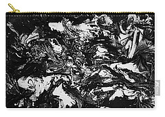 Textured Black And White Series 1 Carry-all Pouch