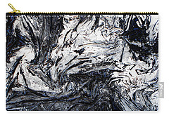 Textured Black And White Series 2 Carry-all Pouch