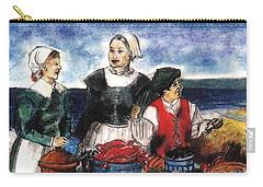 Thanksgiving Supper Carry-all Pouch by Francine Heykoop