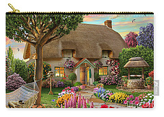 Thatched Cottage Carry-all Pouch by Adrian Chesterman