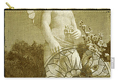 Carry-all Pouch featuring the digital art The Angel - Art Nouveau by Absinthe Art By Michelle LeAnn Scott