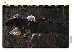 Carry-all Pouch featuring the photograph The Approach by J L Woody Wooden