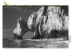 The Arch Cabo San Lucas In Black And White Carry-all Pouch
