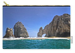 Carry-all Pouch featuring the photograph The Arch  Cabo San Lucas On A Low Tide by Eti Reid